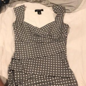 Whbm Xxs black and white top